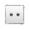 Gniazdo antenowe Kontakt-Simon Basic BMAF2.01/11 typu F podwójne białe