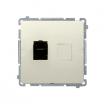 Gniazdo komputerowe Kontakt-Simon Basic BM61.01/12 pojedyncze 1xRJ45 kategoria 6 z osłoną beżowe