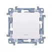 Przycisk pojedynczy Kontakt-Simon 10 CP1L.01/11 bez piktogramu z podświetleniem LED biały