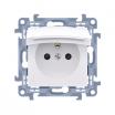 Gniazdo hermetyczne Kontakt-Simon Simon 10 CGZ1BZ.01/11 z uziemieniem IP44 z przesłonami klapka biała białe