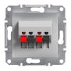 Gniazdo głośnikowe Schneider Asfora EPH5700161 podwójne aluminium