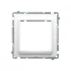 Basic adapter Kontakt-Simon na osprzęt standardu 45x45mm biały BMA45M/11