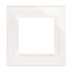 Ramka pojedyncza Kontakt-Simon 54 DRN1/70 szklana biała perła