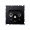 Gniazdo antenowe Kontakt-Simon Basic BMZAR-SAT1.3/1.01/28 R-TV-SAT końcowe grafitowy mat