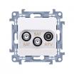 Gniazdo antenowe Kontakt-Simon Simon 10 CASK2.01/11 SAT-SAT-RTV satelitarne podwójne 1dB białe