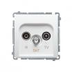 Gniazdo antenowe Kontakt-Simon Basic BMZAR-SAT10/P.01/11 R-TV-SAT przelotowe białe