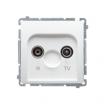 Gniazdo antenowe Kontakt-Simon Basic BMZAP10/1.01/11 R-TV przelotowe białe