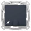 Gniazdo hermetyczne Schneider Sedna SDN3100370 z uziemieniem IP44 Schuko z przesłonami i klapką grafitowe