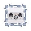 Gniazdo antenowe Kontakt-Simon Simon 10 CAD.01/11 R-TV-Data białe