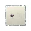 Gniazdo antenowe Kontakt-Simon Basic BMAF1.01/12 typu F pojedyncze beżowe