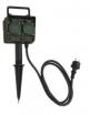 Gniazdo ogrodowe Orno 2x2P+Z czarne IP44 OR-AE-13138