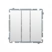 Łącznik potrójny podtynkowy Kontakt-Simon Mega Basic BMW31.01/11 bez ramki biały
