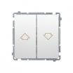 Przycisk żaluzjowy Kontakt-Simon Basic BMZ1.01/11 roletowy biały