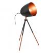 Lampa stołowa Eglo Chester 49385 1x60W E27 czarna/miedź