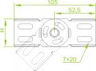 Łącznik przegubowy do korytka LGPH42 142400 Baks