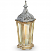 Lampa stołowa EGLO Vintage 49277 1x60W E27 srebrna