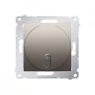 Dzwonek elektroniczny Kontakt-Simon 54 DDT1.01/44 8–12V złoty mat