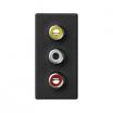 Zaślepka K45/2 Kontakt-Simon Simon Connect K105B/14 225X45 mm szary grafit