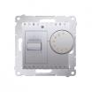 Regulator temperatury Kontakt-Simon 54 DRT10W.02/43 z czujnikiem wewnętrznym srebrny mat