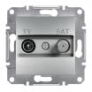 Gniazdo antenowe Schneider Asfora EPH3400161 TV-SAT końcowe 1dB aluminium