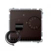 Regulator temperatury Kontakt-Simon Basic BMRT10ZS.02/47 z czujnikiem zewnętrznym czekoladowy