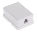 Gniazdo telefoniczne Lechpol TEL0019 LX9127/6/4 pojedyncze mini-pin białe