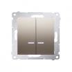 Łącznik świecznikowy Kontakt-Simon 54 DW5BL.01/44 z podświetleniem z wkładką DU1W do wersji IP44 złoty mat