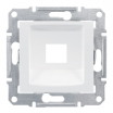 Płytka centralna Schneider Sedna SDN4300421 1xRJ45 do RDM biała