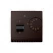 Regulator temperatury Kontakt-Simon Basic BMRT10W.02/47 z czujnikiem wewnętrznym czekoladowy