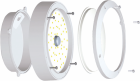 Plafoniera Lumax Vera 12W LED 900lm 840 IP65 LO1261