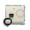 Regulator temperatury Kontakt-Simon Basic BMRT10ZS.02/12 z czujnikiem zewnętrznym beż