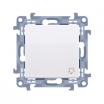 Przycisk dzwonek Simon 10 biały CD1.01/11