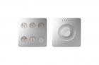 Klawiatura Sense&Slide Kontakt-Simon Simon Sense 8400674-093 6 klawiszy Custom T2 aluminium