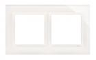 Ramka podwójna Kontakt-Simon 54 DRN2/70 szklana biała perła