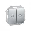 Przycisk żaluzjowy Kontakt-Simon 15 1591335-026 roletowy aluminium