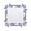 Przycisk pojedynczy Kontakt-Simon 10 CP1.01/11 bez piktogramu biały