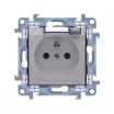 Gniazdo hermetyczne Kontakt-Simon Simon 10 CGZ1B.01/11A z uziemieniem IP44 klapka transparetna białe