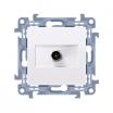 Gniazdo antenowe Kontakt-Simon Simon 10 CASF1.01/11 typu F pojedyncze białe