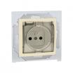 Gniazdo hermetyczne Kontakt-Simon 15 1591950-031A z uziemieniem IP44 z przesłonami z klapką transparentną beżowe