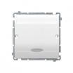 Łącznik hotelowy Kontakt-Simon Basic BMWH1.02/11 z podświetleniem biały