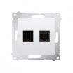 Gniazdo HDMI i komputerowe Kontakt-Simon Simon 54 DGHRJ45.01/11 HDMI + RJ45 kategoria 6 białe
