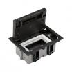 Puszka podłogowa Kontak-Simon SF170/14 jeden moduł 170x115 szara/grafitowa