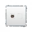 Gniazdo antenowe Kontakt-Simon Basic BMAF1.01/11 typu F pojedyncze białe