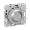 Ściemniacz uniwersalny Schneider Odace S530512 do LED 4-200VA do żarówek i halogenów 4-400W aluminium