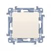 Przycisk pojedynczy Kontakt-Simon 10 CP1.01/41 bez piktogramu kremowy