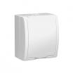 Gniazdo hermetyczne Kontakt-Simon Aquarius AQGZ1Z/11 natynkowe pojedyncze z uziemieniem IP54 z przesłonami klapka biała białe
