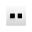 Gniazdo telefoniczne Kontakt-Simon Basic BMT2.02/11 podwójne 2xRJ12 białe