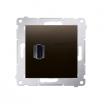 Gniazdo HDMI Kontakt-Simon Simon 54 DGHDMI.01/46 pojedyncze brązowy mat