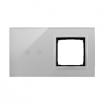 Panel dotykowy Kontakt-Simon 54 Touch DSTR220/71 dwa moduły dwa pola dotykowe poziome otwór na osprzęt srebrna mgła