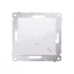 Łącznik schodowy Kontakt-Simon 54 DW6AL.01/11 z podświetleniem LED biały